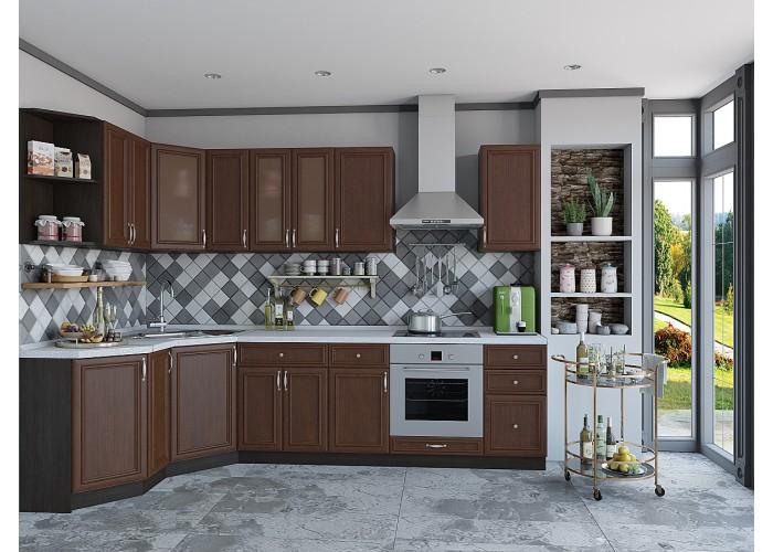 кухня шале-03 brown oak