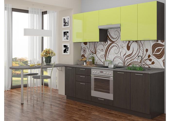 кухня валерия-м-02 лайм глянец/венге