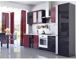 валерия-м-03 бордовый глянец/черный металлик