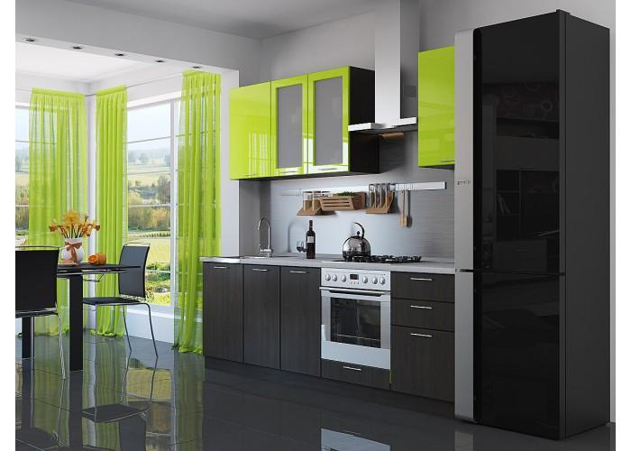 кухня валерия-м-03 лайм глянец/венге