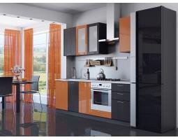 валерия-м-03 оранжевый глянец/венге