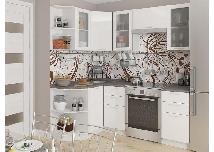 кухня валерия-м-04 белый глянец