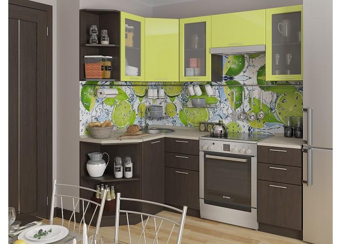 кухня валерия-м-04 лайм глянец/венге